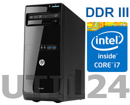 Компьютер в сборе на процессоре  INTEL® CORE™ i7 (2GB DDR3, HDD SATA от 250Gb)